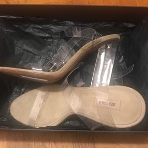3e81c62fbb84 Yeezy Shoes - Yeezy Season 6 transparent sandals. Size 37.